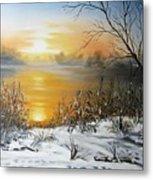 Golden Lake Sunrise  Metal Print
