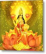 Golden Lakshmi Metal Print