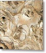 Golden Lava Metal Print