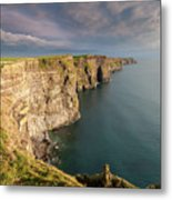 Golden Light At The Cliffs Of Moher Metal Print