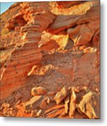 Golden Light On Valley Of Fire Arch Metal Print