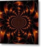 Golden Lightning Illusion Metal Print