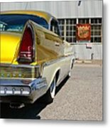 Golden Lincoln Metal Print