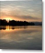 Golden Liquid Dawn Metal Print