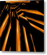 Golden Logs Metal Print