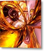 Golden Maelstrom Abstract Metal Print