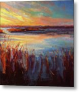 Golden Marsh Metal Print