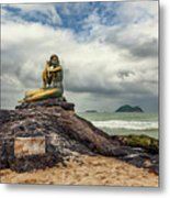 Golden Mermaid Thailand Metal Print