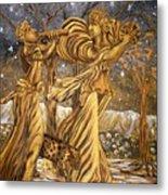 Golden Minstrels. Metal Print