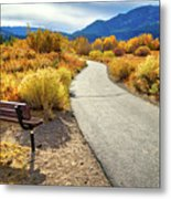 Golden Moments In Mammoth Metal Print