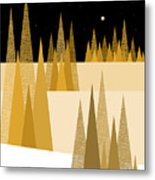Golden Moonlight Metal Print by Val Arie