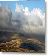 Golden Mountains Metal Print