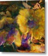 Golden Mushrooms Metal Print