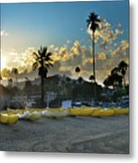 Golden Outriggers Metal Print