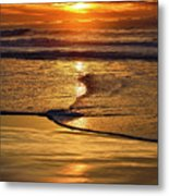 Golden Pacific Sunset Metal Print