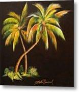 Golden Palms 2 Metal Print