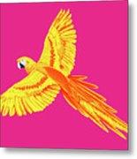 Golden Parrot Metal Print
