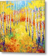 Golden Path Metal Print by Marion Rose