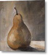 Golden Pear Metal Print