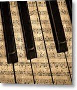 Golden Pianoforte Classic Metal Print
