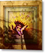 Golden Pippi Metal Print