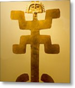 Golden Pre-columbian Figure Metal Print