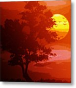 Golden Rays Of The Sun  Metal Print