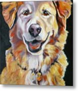 Golden Retriever Most Huggable Metal Print