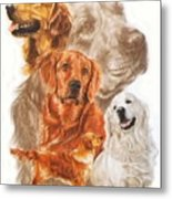 Golden Retriever W/ghost Metal Print