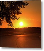 Golden Road Sunrise Metal Print