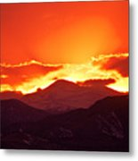 Golden Rocky Mountain Sunset Metal Print