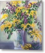 Violet And Gold Metal Print