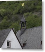 Golden Rooster St Sebastian Church Ehrenthal Germany Metal Print