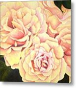 Golden Roses Metal Print