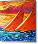 Golden Sails Metal Print by Joseph   Ruff