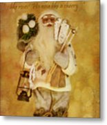 Golden Santa Card 2015 Metal Print