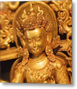 Golden Sculpture Metal Print