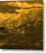 Golden Sea Waves Graphic Digital Poster Art By Navinjoshi At Fineartamerica.com Ideal For Wall Decor Metal Print