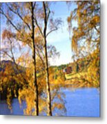 Shades Of Gold Metal Print