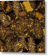 Golden Shimmer Metal Print