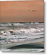 Golden Shore Metal Print