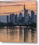 Golden Skyscraper Refelctions Metal Print