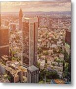Golden Skyscrapers Of Frankfurt Metal Print