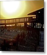 Golden Slats Metal Print