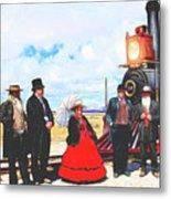 Golden Spike Railroad - Wating - 0749 G Metal Print