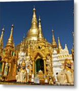 Golden Spires Metal Print