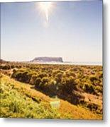 Golden Stanley Landscape Metal Print