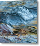 Golden Strands Of Water Metal Print