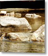 Golden Stream Metal Print
