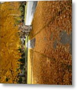 Golden Streets Metal Print